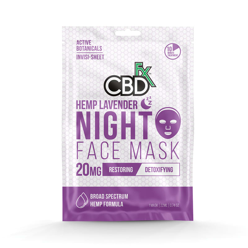 CBDfx Hemp Lavender Face Mask